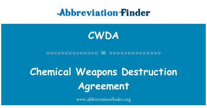 CWDA: Chemical Weapons Destruction Agreement