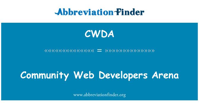 CWDA: Community Web Developers Arena