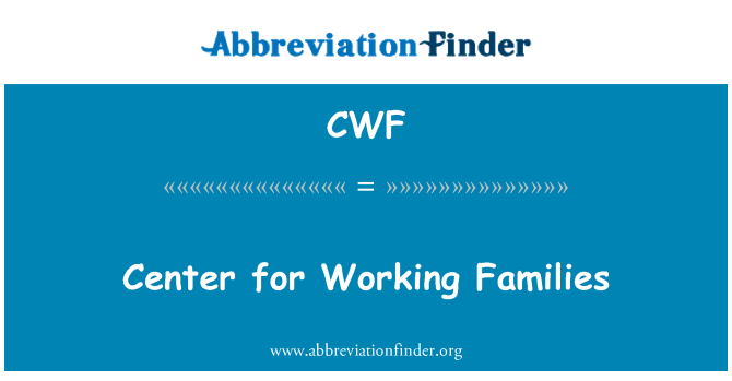 CWF: Center for Working Families