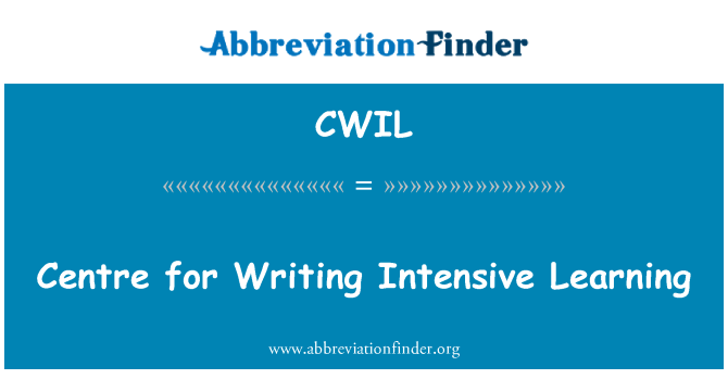 CWIL: Centre for Writing Intensive Learning