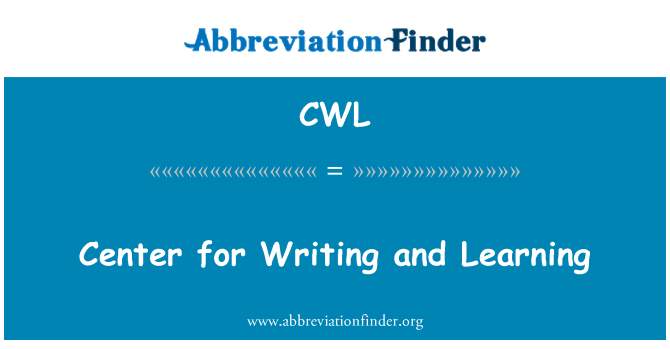CWL: Center for Writing and Learning
