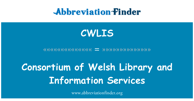 CWLIS: Consortium of Welsh Library and Information Services