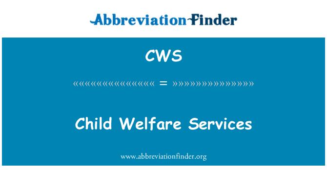 CWS: Child Welfare Services