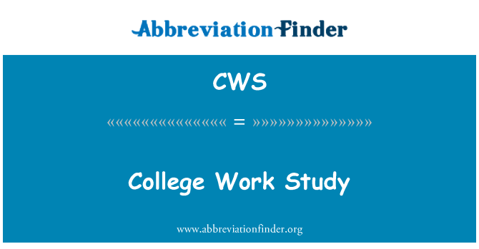 CWS: College Work Study