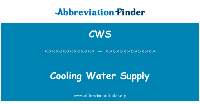 CWS: Cooling Water Supply