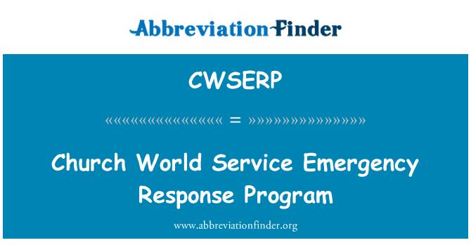 CWSERP: Church World Service Emergency Response Program