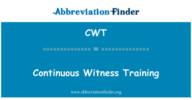CWT: Continuous Witness Training