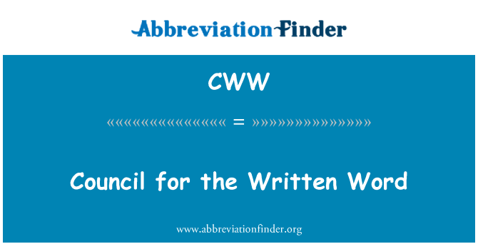CWW: Council for the Written Word