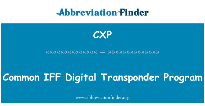 CXP: Common IFF Digital Transponder Program