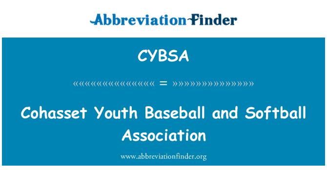 CYBSA: Cohasset Youth Baseball and Softball Association