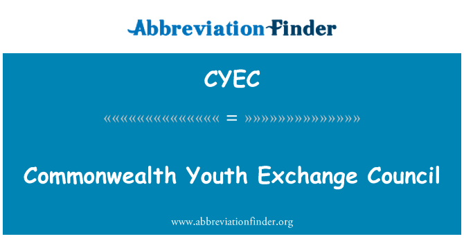 CYEC: Commonwealth Youth Exchange Council