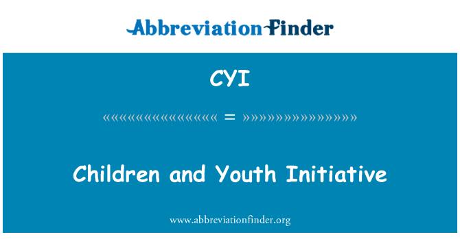 CYI: Children and Youth Initiative