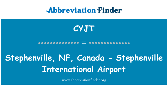 CYJT: Stephenville, NF, Canada - Stephenville International Airport