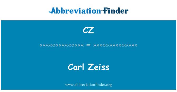 CZ: Carl Zeiss