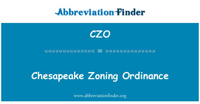 CZO: Chesapeake Zoning Ordinance