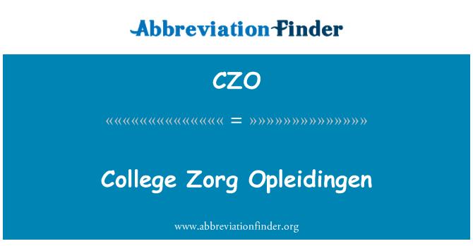CZO: College Zorg Opleidingen