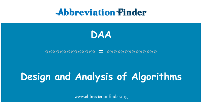 DAA: Design and Analysis of Algorithms