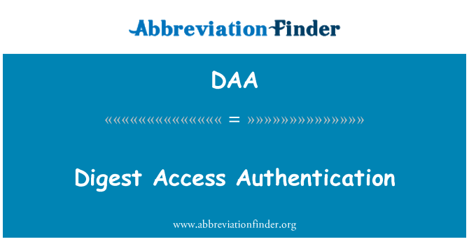 DAA: Digest Access Authentication