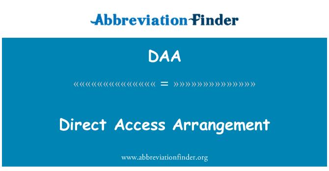 DAA: Direct Access Arrangement