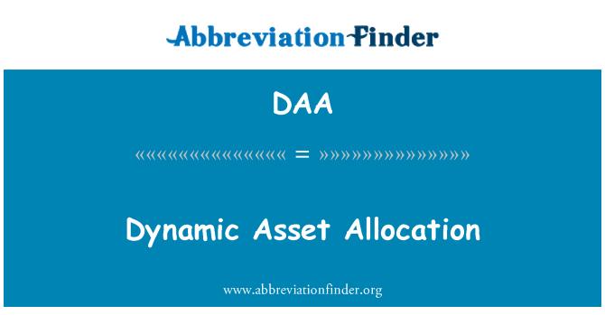 DAA: Dynamic Asset Allocation