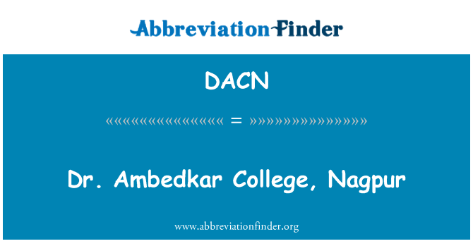 DACN: Dr. Ambedkar College, Nagpur