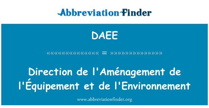 DAEE: 方向 de l '题目 de l' Équipement et 德与环境