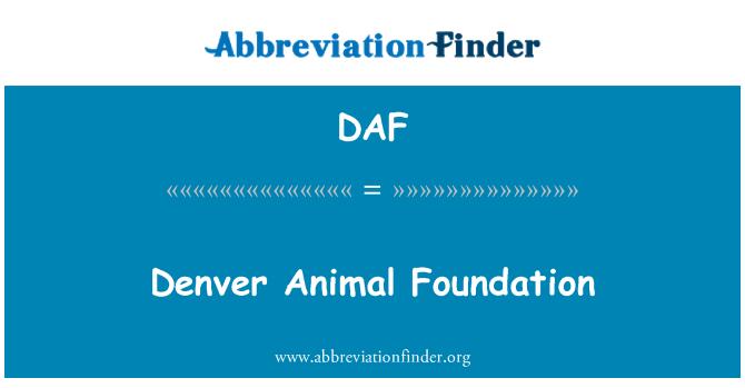DAF: Denver Animal Foundation