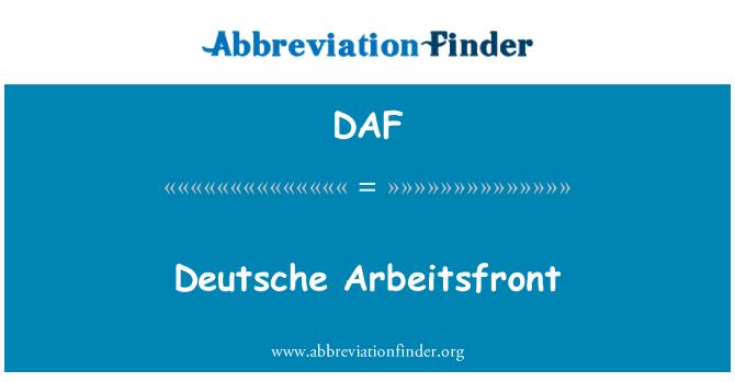 DAF: Deutsche Arbeitsfront
