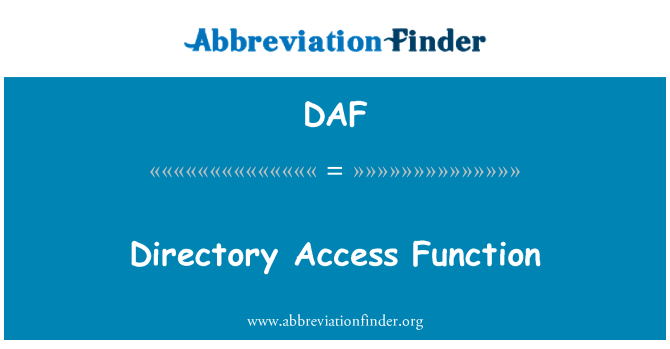 DAF: Directory Access Function