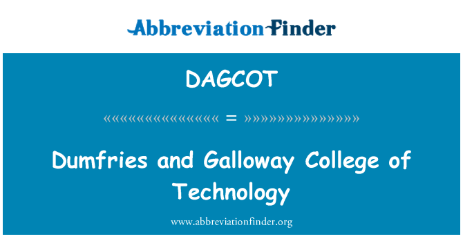 DAGCOT: Dumfries and Galloway College of Technology