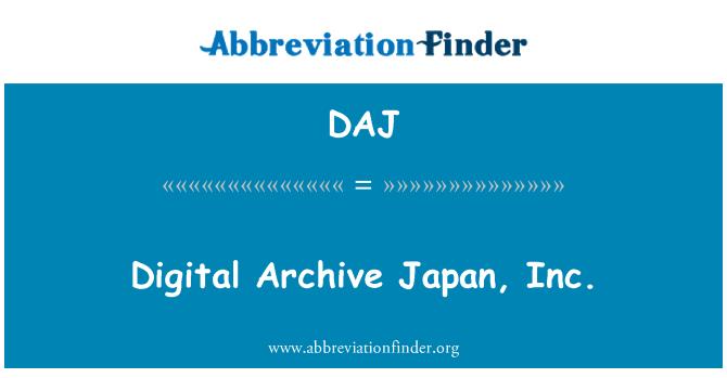 DAJ: Digital Archive Japan, Inc.