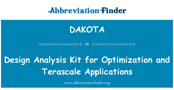 DAKOTA: Kit de análisis de diseño para la optimización y aplicaciones de Terascale
