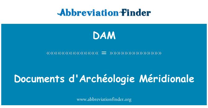 DAM: Documents d'Archéologie Méridionale