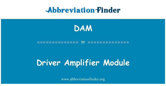 DAM: Driver Amplifier Module