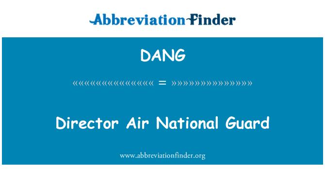 DANG: Guardia Nacional Aérea de Director