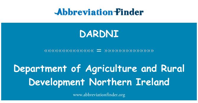 DARDNI: Bölümü tarım ve kırsal kalkınma Kuzey İrlanda