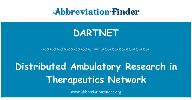 DARTNET: Distributed Ambulatory Research in Therapeutics Network