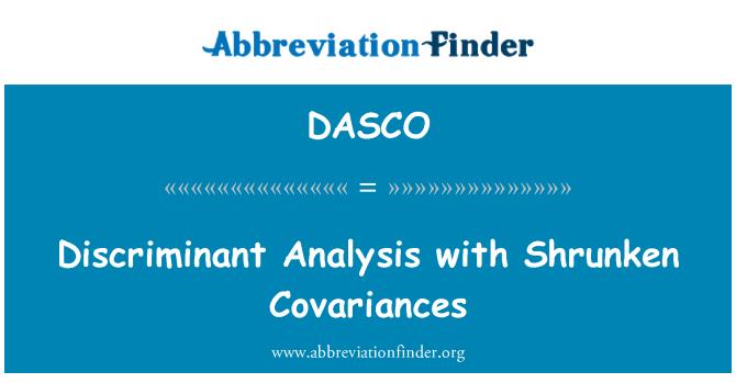 DASCO: Discriminant Analysis with Shrunken Covariances