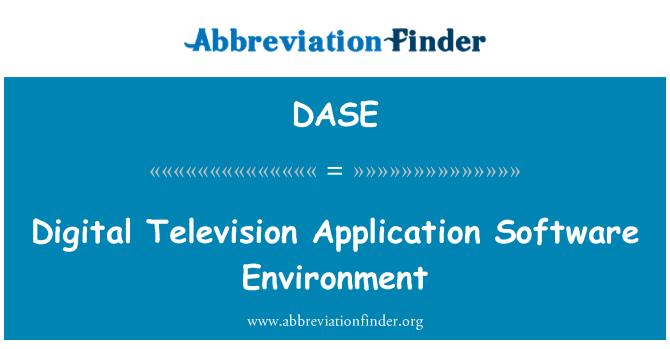 DASE: Środowiska oprogramowania aplikacji telewizji cyfrowej