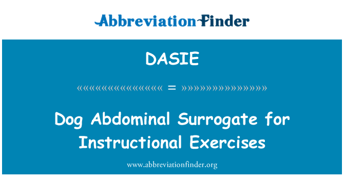 DASIE: Dog Abdominal Surrogate for Instructional Exercises