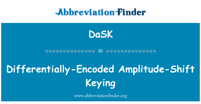 DaSK: Differentially-Encoded Amplitude-Shift Keying