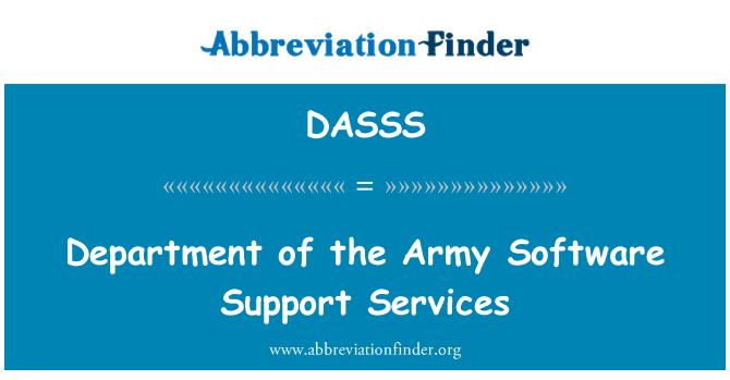 DASSS: Armee tarkvara toetavate teenuste osakond