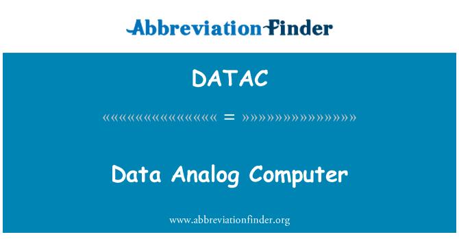 DATAC: Data Analog Computer