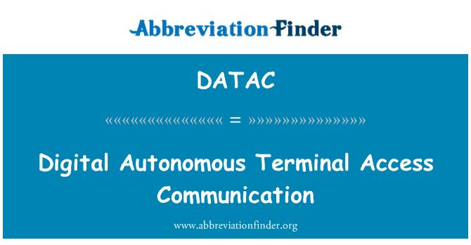 DATAC: Digital Autonomous Terminal Access Communication
