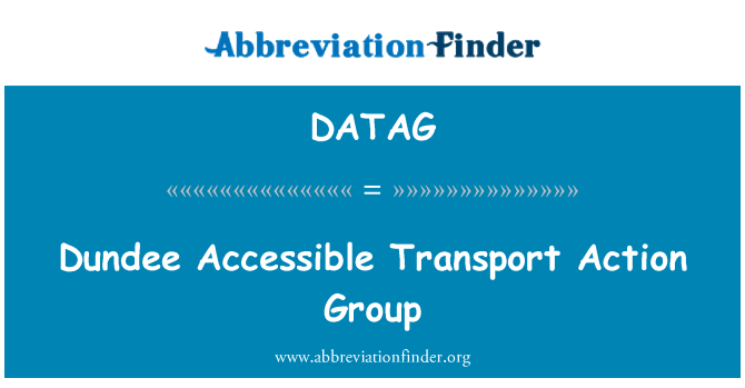 DATAG: Dundee Accessible Transport Action Group