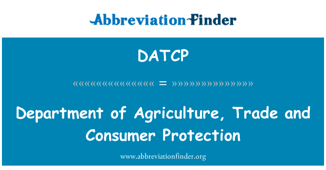 DATCP: Department of Agriculture, Trade and Consumer Protection