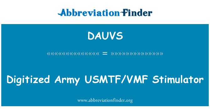 DAUVS: Digitized Army USMTF/VMF Stimulator