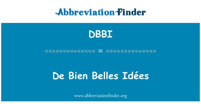 DBBI: De Bien Belles Idées