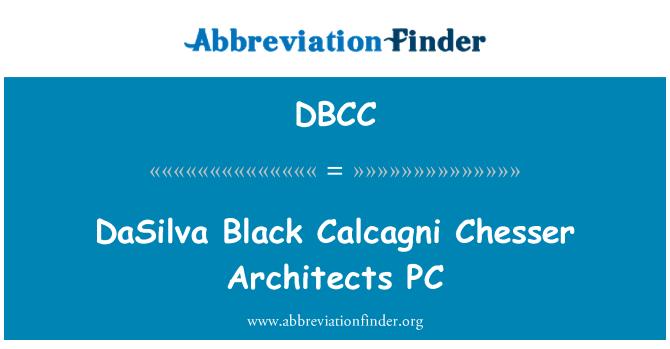 DBCC: DaSilva negro Calcagni Chesser Architects PC