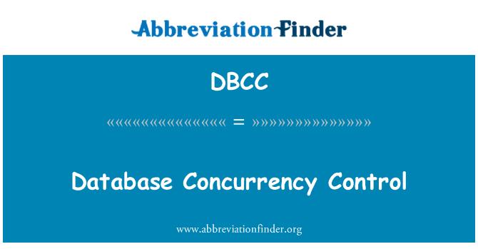 DBCC: Baza podataka istodobnosti kontrole